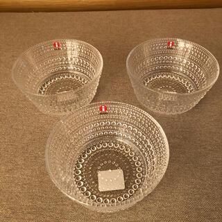 イッタラ(iittala)の新品 イッタラ カステヘルミ ボウル クリア 3個セット(食器)