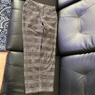 バックナンバー(BACK NUMBER)のバックナンバーグレンチェックコーデュロイパンツSサイズ冬素材(デニム/ジーンズ)