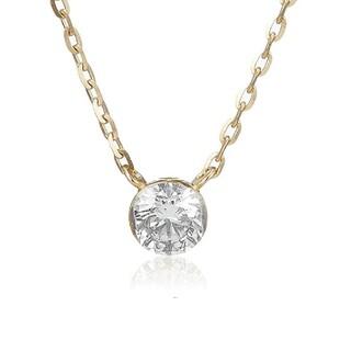 agete - *美品* アガット K18 0.1 カラット ダイヤモンドネックレス