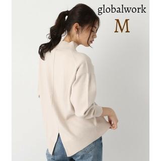 グローバルワーク(GLOBAL WORK)の美品 グローバルワーク メルティーバックスリットニット トップス長袖(ニット/セーター)