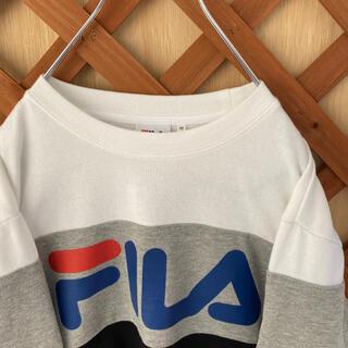 フィラ(FILA)の【FILA】フィラ 90s スウェット トレーナー ロゴ刺繍 古着女子(トレーナー/スウェット)