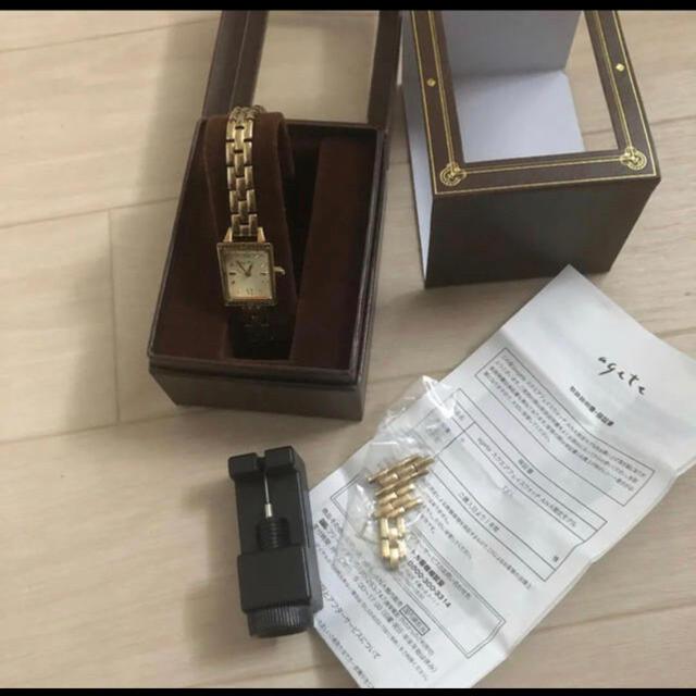 agete(アガット)のANA機内限定ageteアガットスクエアフェイスウオッチ レディースのファッション小物(腕時計)の商品写真