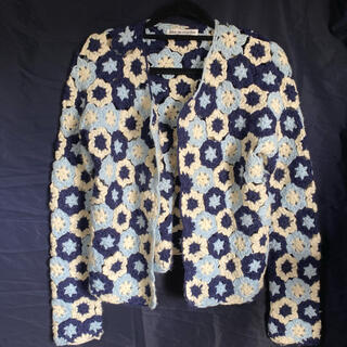 COMME des GARCONS - robe de chambre byコムデギャルソン 花柄ニットカーディガン