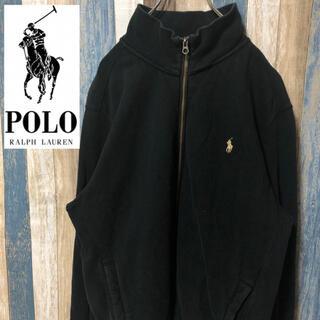 ポロラルフローレン(POLO RALPH LAUREN)の【Ralph Lauren】ラルフローレン スウェットパーカー ポニー刺繍 黒(ジャージ)