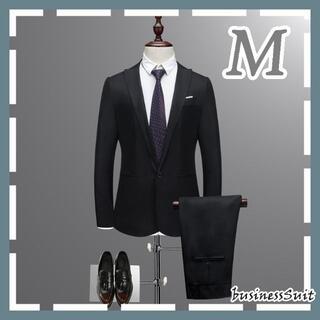 カジュアルスーツ メンズ ブラック M(セットアップ)