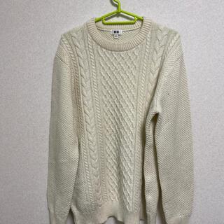ユニクロ(UNIQLO)のUNIQLO セーター 白 XL(ニット/セーター)