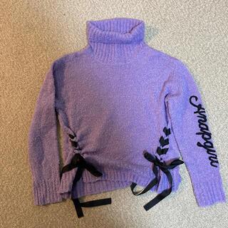 アナップ(ANAP)のアナップガール セーター 美品 レピピアルマリオ ラブトキシック ピンクラテ(ニット)
