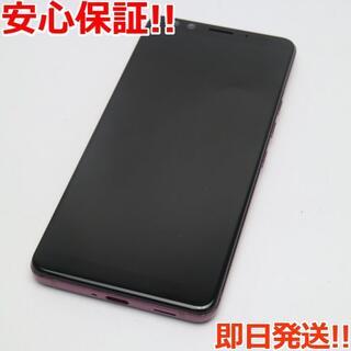 ハリウッドトレーディングカンパニー(HTC)の美品 SIMフリー U12+ レッド 本体 白ロム (スマートフォン本体)