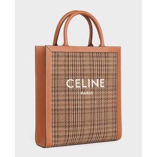 celine - 美品 セリーヌ トート バッグ スモールバーティカル CELINE タン