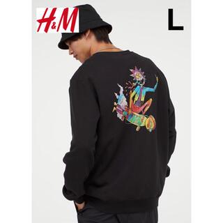 新品 安値 H&M × リック&モーティー スウェット L