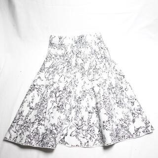 ディノス(dinos)の[dinos] レディース スカート 黒×白×柄(ひざ丈スカート)