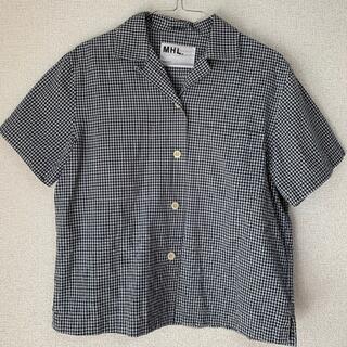 MARGARET HOWELL - MHL ギンガムチェックシャツ ネイビー