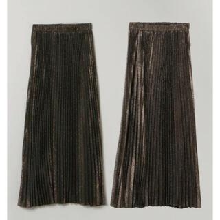 ジーナシス(JEANASIS)のジーナシス リバーシブルシャンブレープリーツスカート(ロングスカート)