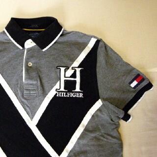 トミーヒルフィガー(TOMMY HILFIGER)のトミーヒルフィガー 半袖ポロシャツ グレー【中古】(ポロシャツ)