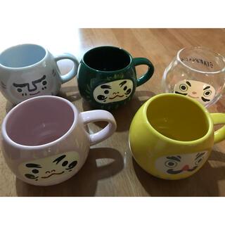 スターバックスコーヒー(Starbucks Coffee)のスターバックス・だるまマグカップ5個セット(マグカップ)