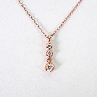 4℃ - 4℃ K10PG ダイヤモンド ネックレス[g386-8]