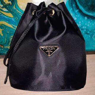 PRADA - PRADA ノベルティ巾着ポーチ 収納バッグ ブラック