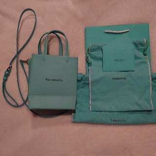 ティファニー(Tiffany & Co.)のティファニー ショッピングトート ミニ ブルー 日本限定 ロゴ(トートバッグ)