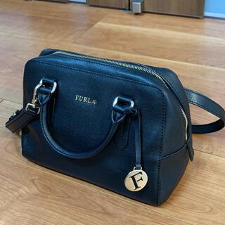 Furla - FURLAフルラElenaサフィアーノレザーサッチェル黒ブラックショルダーバッグ