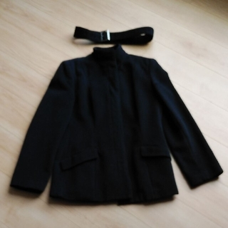 ロートレアモン(LAUTREAMONT)のロートレアモンLAUTRÉAMONTスタンドカラージャケットコート3黒ブラックL(ノーカラージャケット)