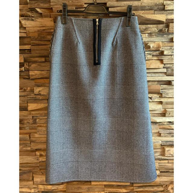Drawer(ドゥロワー)の2019秋冬Aラインチェックスカート美品 レディースのスカート(ロングスカート)の商品写真