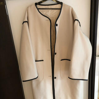Aunt Marie's - アントマリーズ キルティング付き パイピングコート