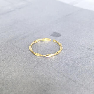 トゥデイフル(TODAYFUL)の再販(silver925×18kコーティング】華奢なツイストリング(リング(指輪))