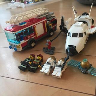 Lego - 訳ありレゴ スペースシャトル はしご車 レースカー セット