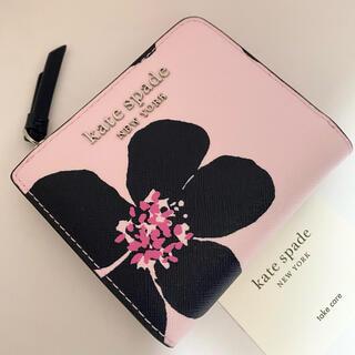 ケイトスペードニューヨーク(kate spade new york)のWLRU6137 ケイトスペード キャメロン フラワー 二つ折り財布 ピンク(財布)