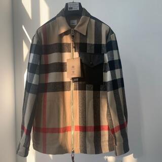 BURBERRY - 【BURBERRY】チェック柄ボックスフィットシャツジャケット