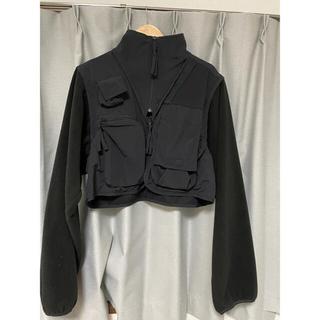 SUNSEA - stein over sleeve fixxed fleece jacket