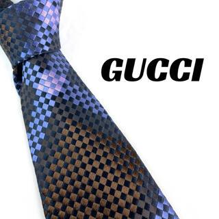 グッチ(Gucci)の【1656】美品!GUCCI グッチ ネクタイ パープル系 ブランド(ネクタイ)