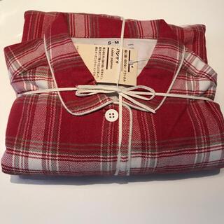 ムジルシリョウヒン(MUJI (無印良品))のMUJI 脇に縫い目のない フランネル パジャマ 赤×チェック  S-M(パジャマ)