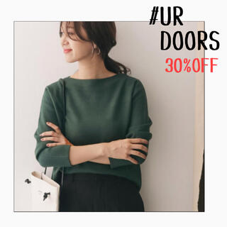 DOORS / URBAN RESEARCH - ★新品未使用タグ付き★UR DOORS*ミラノリブボートネックプルオーバー