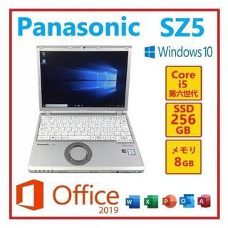 パナソニック(Panasonic)のRL-63PanasonicCF-SZ5 Win10 Office2019搭載①(ノートPC)