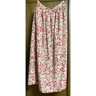 インゲボルグ(INGEBORG)のインゲボルグ 花柄 春夏 ロングスカート ほぼ未使用 ヴィンテージ(ロングスカート)