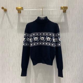 シャネル(CHANEL)のCHANELジャカードカシミヤのセーター(ニット/セーター)