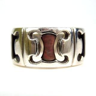 セリーヌ(celine)のセリーヌ マカダム シェル デザインリング サイズ11 SV925 17-371(リング(指輪))