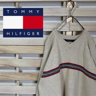トミーヒルフィガー(TOMMY HILFIGER)のTOMMY HILFIGER トミーヒルフィガー★ワンポイントロゴ刺繍 セーター(ニット/セーター)