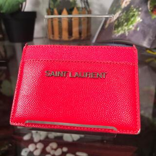 サンローラン(Saint Laurent)のSaint Laurent カードケース ピンク サンローラン(名刺入れ/定期入れ)