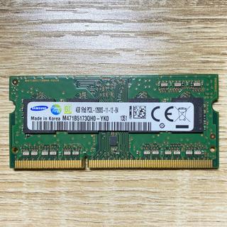 サムスン(SAMSUNG)の【中古】SAMSUNG PCメモリ 4GB DDR3-1333 SO-DRAM(PCパーツ)
