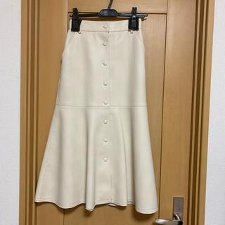 LE CIEL BLEU - ルシェルブルー フェイクレザースカート