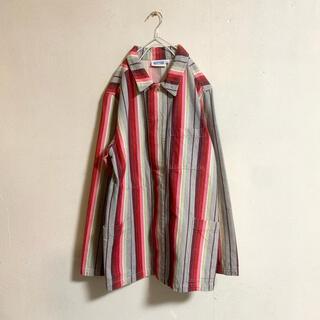 ロキエ(Lochie)の春服【vintage】古着男子 カラフル 柄 デニム ジャケット(Gジャン/デニムジャケット)