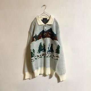 ロキエ(Lochie)の【vintage】 古着男子 古着女子 アラン ニット セーター クリスマス(ニット/セーター)