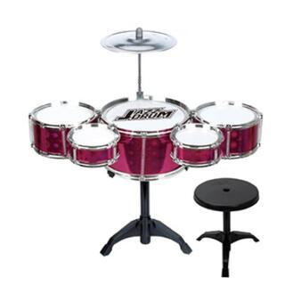 デラックスドラムセット☆ピンク(楽器のおもちゃ)