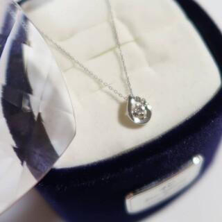 4℃ - 4℃ プラチナ ダイヤ ネックレス しずく ティアドロップ
