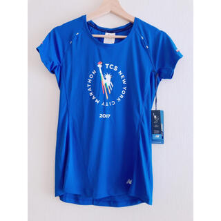 ニューバランス(New Balance)の半袖カットソー 青 サイズM ニューバランス newbalance Tシャツ(ウェア)