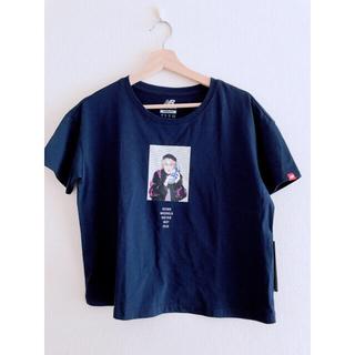 ニューバランス(New Balance)のTシャツ ネイビー Mサイズ ニューバランス newbalance ランニング(ウェア)