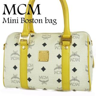 MCM - MCM ロゴグラム ヴィセトス レザー ミニ ボストン ハンド バッグ