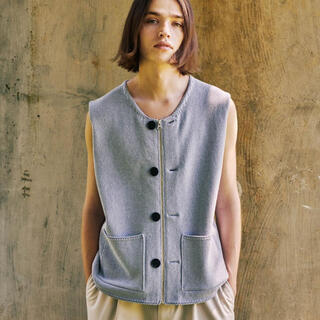 UNUSED - Matsufuji modified farmers knit vest